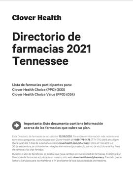 Directorio de farmacias 2021 Tennessee