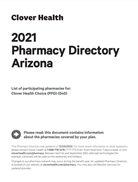 2021 Pharmacy Directory Arizona