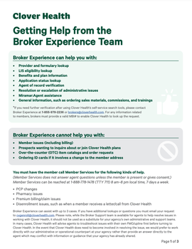 Broker Experience FAQ