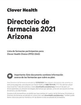 Directorio de farmacias 2021 Arizona