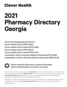 2021 Pharmacy Directory Georgia