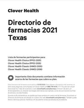 Directorio de farmacias 2021 Texas