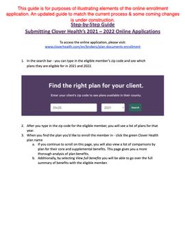 2022 Online Enrollment Form Guide