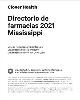 Directorio de farmacias 2021 Mississippi