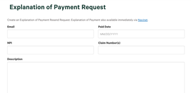 Explanation of Payment Request