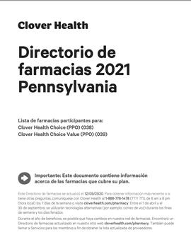 Directorio de farmacias 2021 Pennsylvania