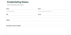 Credentialing status request