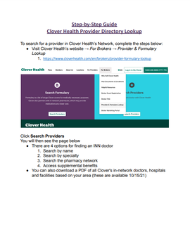 2022 Provider Directory Lookup Guide