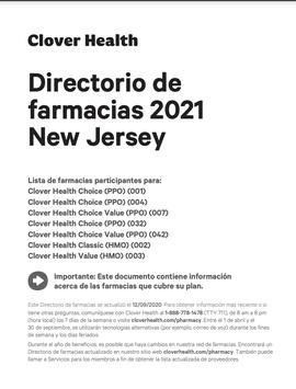 Directorio de farmacias 2021 New Jersey
