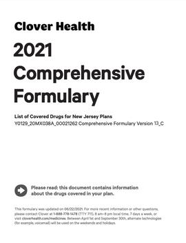 2021 Comprehensive Formulary