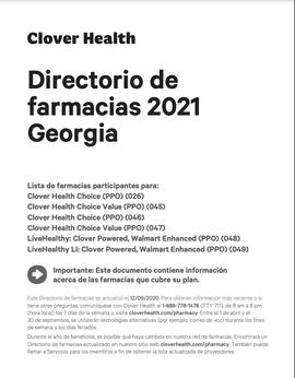 Directorio de farmacias 2021 Georgia