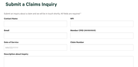 Submit a Claims Inquiry
