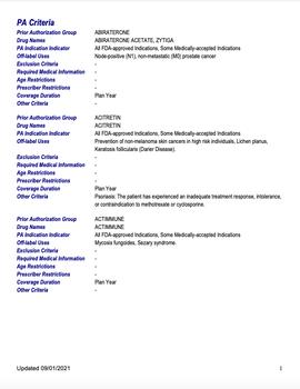 Criterios de autorización previa
