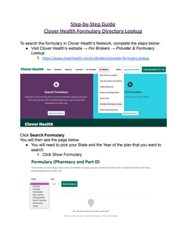 2022 Formulary Directory Lookup Guide