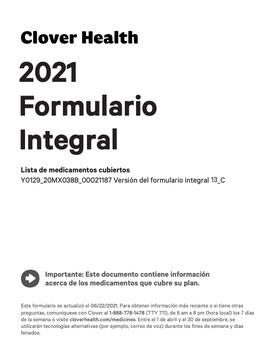 2021 Formulario Integral